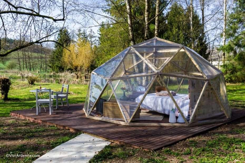 Passer la nuit dans une bulle en Ardenne